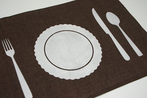 DIY Project: Stencilled Placemat