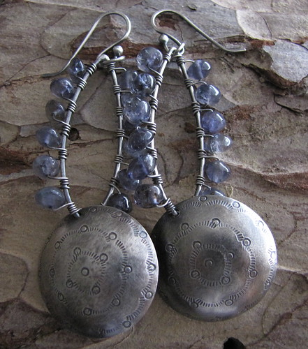 Conchas-Inky blue by Amy Nicole Artisan Jewelry