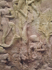 Victory Stele of Naram-Sin detail with falling Lullubi