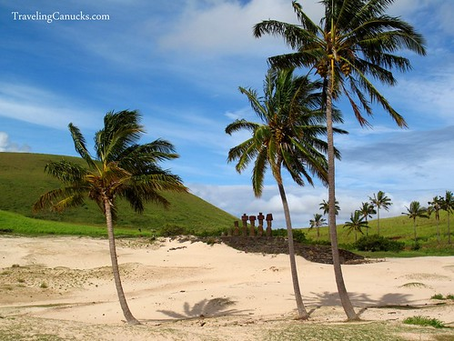 Easter Island Maoi Statues at Arekena Beach