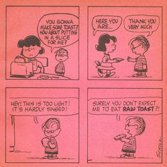Peanuts Cook Book Comic Strip