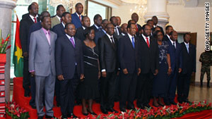 Members of the newly-appointed government in the West African state of Burkina Faso. The country has undergone strikes and army mutinies over the last few weeks aimed at toppling Blaise Compaore. by Pan-African News Wire File Photos
