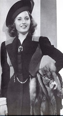Barbara Stanwyck in a design by Royer (Silverbluestar) Tags: ladies girls classic film beautiful beauty hat fashion vintage fur stars 1930s women pretty hollywood actress movies celebrities brunette elegance royer womens barbarastanwyck