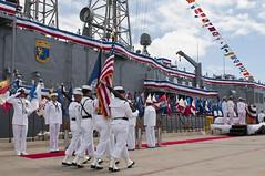 110421-N-BT887-058 (U.S. Pacific Fleet) Tags: us sandiego calif frigate colorguard uspacificfleet navalstationsandiego decommissioningceremony pacflt ussjarrettffg33