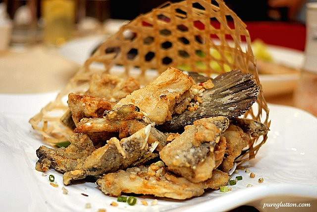 fried fish head & bones