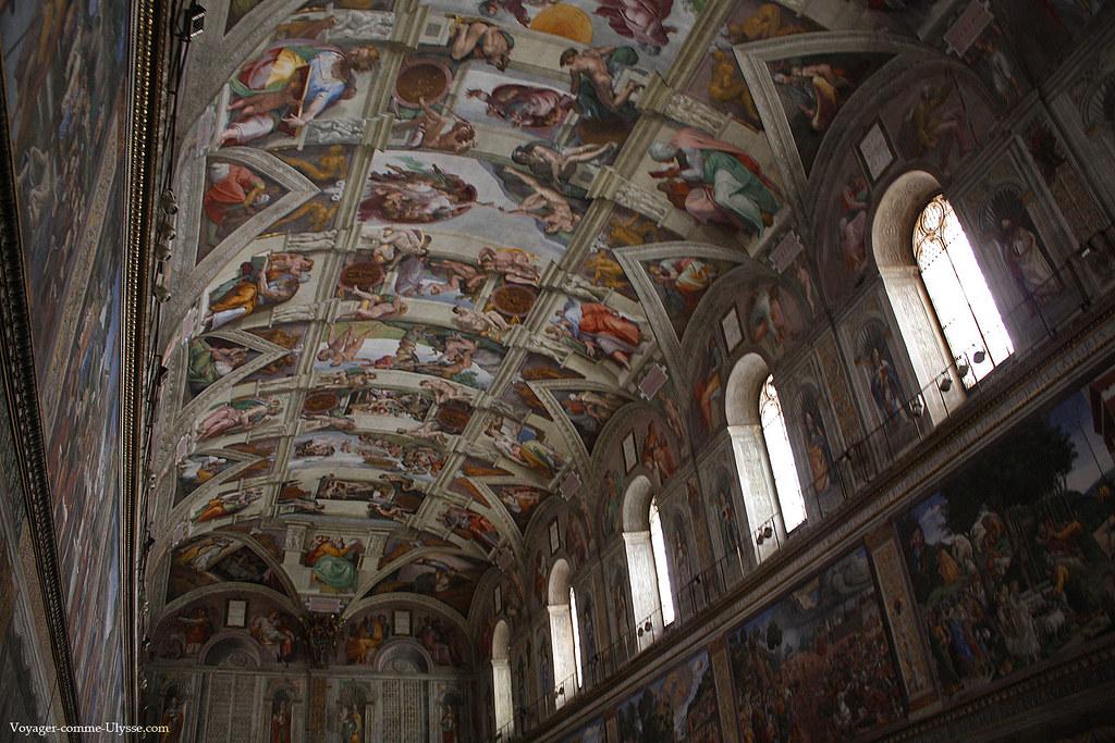 Fresques de Michel Ange du plafond de la Chapelle Sixtine