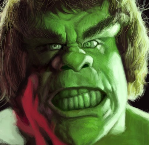 digital sketch study 2 of Lou Ferrigno - 6