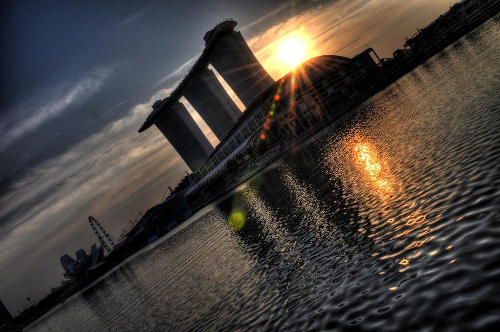 Sunrise at Marina Bay 滨海湾的日出 ...