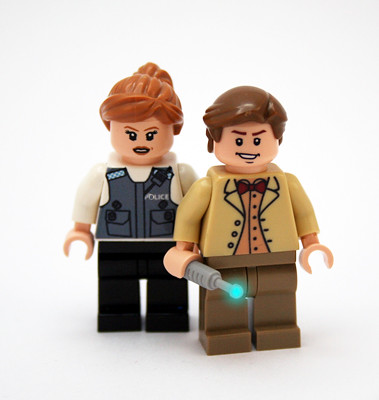 Custom minifig The Dr. and Amy