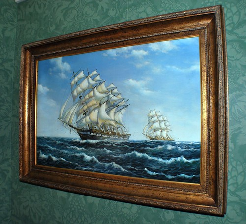 Ship Painting Hanging in the Callender Room