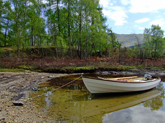"""Drascombe Lugger (nz_willowherb) Tags: water reflections see scotland boat spring picnic tour vessel visit tourist tay loch visitor killin lugger drascombe to"""" """"go visitkillin seekillin gotokillin"""