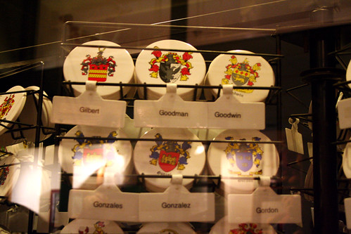 Queen Mary - British Goods Shop Carries Gonzales AND Gonzalez Family Crests