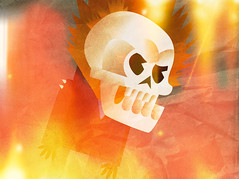Ghost Rider abstract art (sketchy pictures) Tags: skull sketch comic doodle marvel ghostrider