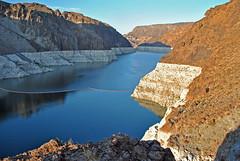 Lake Mead (chrisshots) Tags: blue sea arizona sky usa water america photoshop reflections fanta