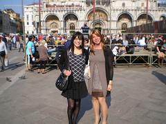 St Mark's Square, Venice, with Luisa (Starrynowhere) Tags: public outdoor emma tgirl transvestite transgendered crossdresser starrynowhere