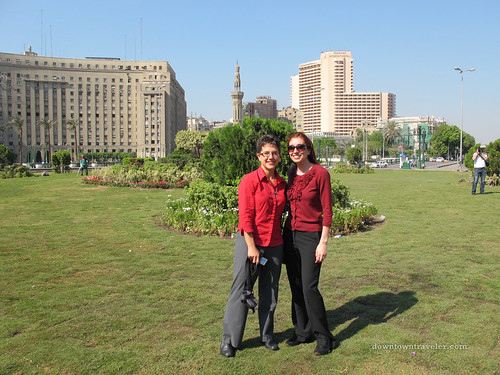 Leslie and Marie Rose at Tahrir Square