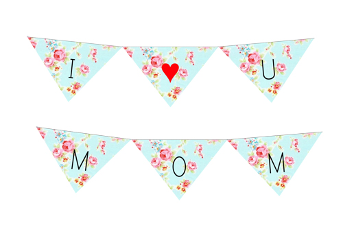 Freebie Mothers day Bunting Printable Example 2