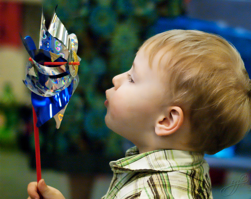 A boy and his whirligig