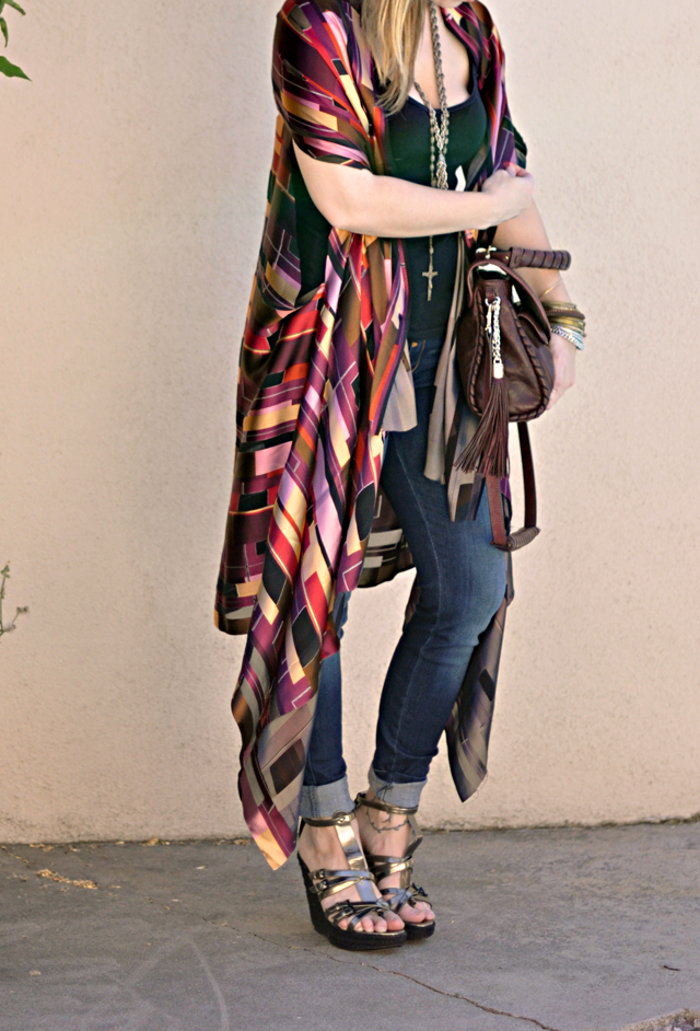 diy sheer shawl
