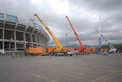 Segundo día de montaje - Estadio Azteca 08