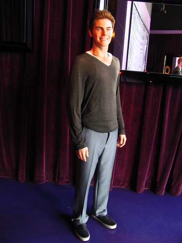 Zac Efron figure at Madame Tussauds Hollywood
