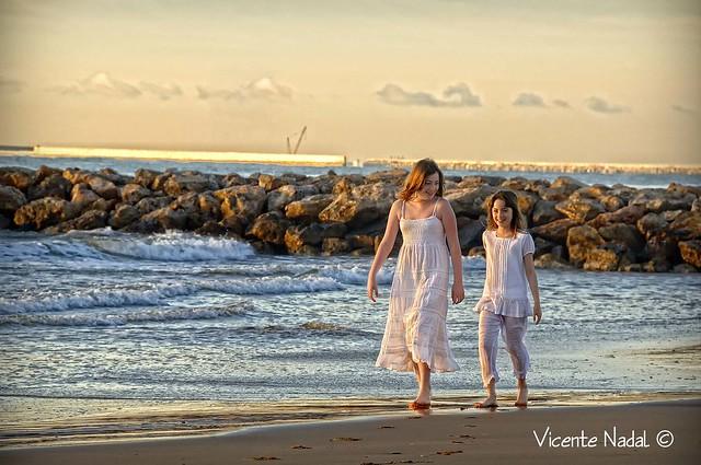 niña comunión playa amanecer 10 fotos nadal