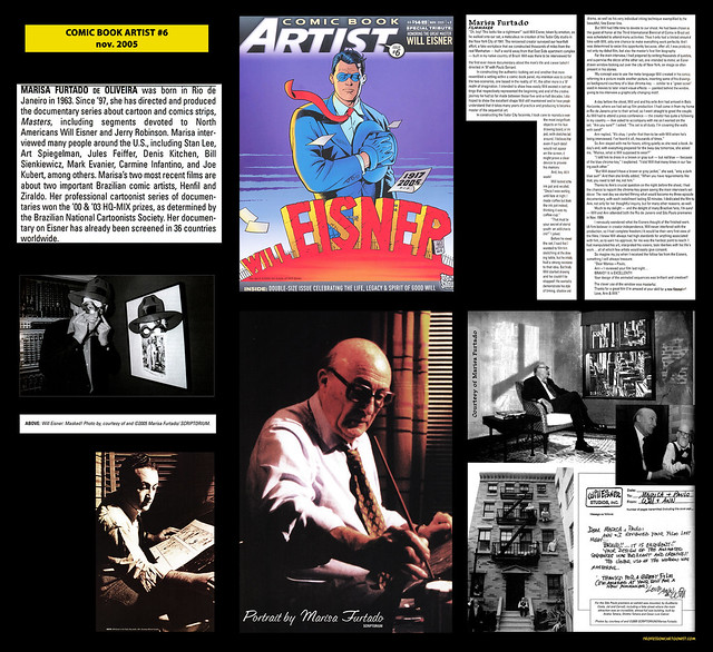 """Honoring the great master Will Eisner"" - Comic Book Artist - novembro/2005"