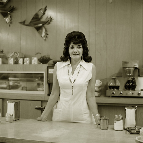 Steve Fitch, Truckstop Waitress, Highway 66, Gallup, New Mexico, 1972