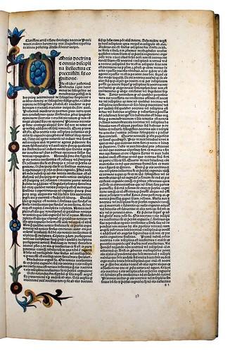 Decorated page from Paulus Venetus: Expositio in libros Posteriorum Aristotelis