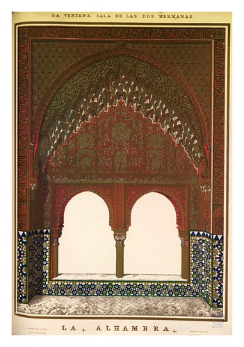 005-La ventana-Sala de las dos hermanas-Plans- elevations- sections and details of the Alhambra 1842 –Vol. I-Jules Goury y Owen Jones