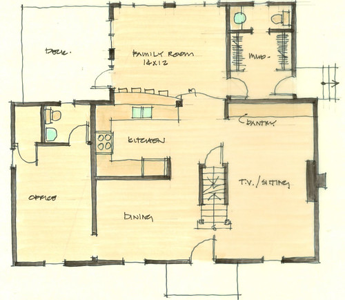 Suggested floorplan, main floor