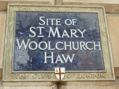 Photo of St. Mary Woolchurch Haw blue plaque
