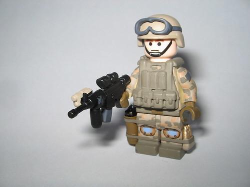 Custom minifig Battle LA Marine