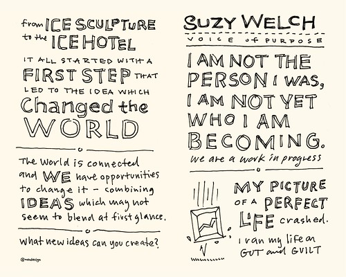 Chick-Fil-A Leadercast Sketchnotes 21-22 - Frans Johansson / Suzy Welch