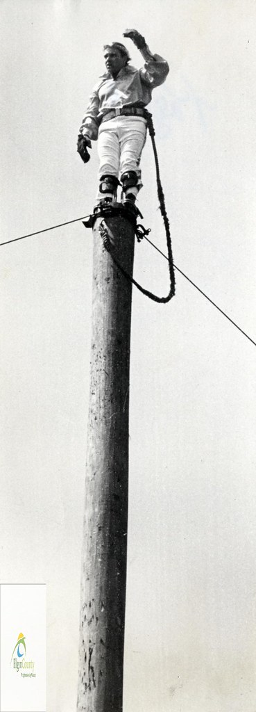 Clark Equipment of Canada Limited, St. Thomas- World Champion Pole Climber, 1972