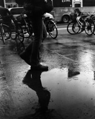 """S"" (Skies of Bitan ) Tags: blackandwhite mamiya film rain vintage mediumformat puddle afternoon taiwan hc110 120film bicycles taipei 6x7    rollfilm  blackandwhitefilm   negativefilm   taida  aristaeduultra400 fomapan400 mamiyarb67prosd 90mmf38 sekor90  mamiyasekor90mmf38  hc11016min19degc"