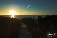 Puesta de sol en Los Hervideros - Lanzarote (Andreas Weibel) Tags: sunset island lava coast mar photo couple foto pareja lanzarote canarias puestadesol canary isla timanfaya hervideros