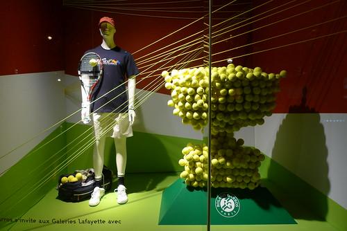 Vitrines Galeries Lafayette - Roland Garros - Paris, mai 2011