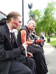 Chillin' (Venvierra @ GothZILLA Photography) Tags: people fun lumix costume blood zombies fancydress crowds newcastleupontyne fakeblood tyneandwear walkingdead hordes zombiewalk zombieapocalypse venvierra dmcfs10 panasonicdmcfs10 newcastlezombiewalk undeadhordes