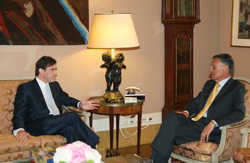 Pedro Passos Coelho reunião com o Presidente Cavaco Silva