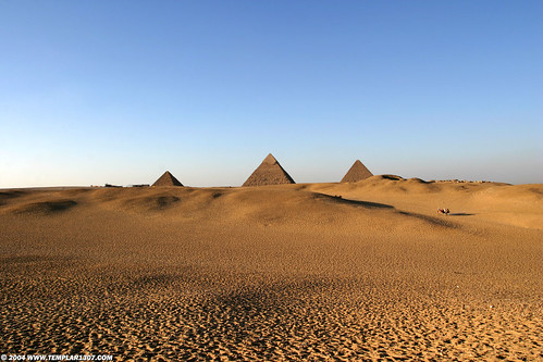 EG04 9738  Menkaure, Chephren & Cheops, Giza P...