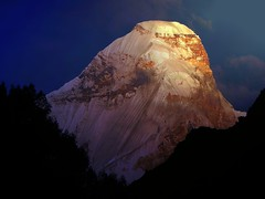 Bathing Nanda !! (Lopamudra!) Tags: morning india mountain sunrise dawn twilight peak glacier sacred nanda himalaya basecamp morn nandadevi pachu kumaon lopamudra kumaun nandadevieast pachhu