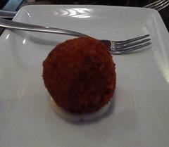 Portuguese bacalhau balls and aioli