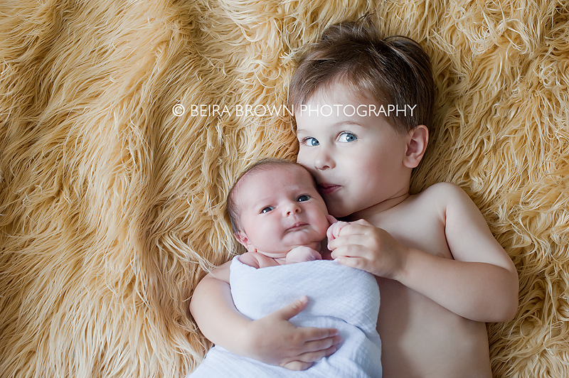 brother and baby sister together