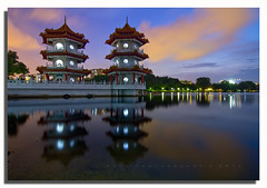 ** Blue Hour @ Chinese Garden Singapore ** (www.glenespinosaphoto.com) Tags: nightphotography digital twilight nightshoot bluehour technique dri blending tokina1224f4 longexposurephotography canon7d twilightatchinesegarden