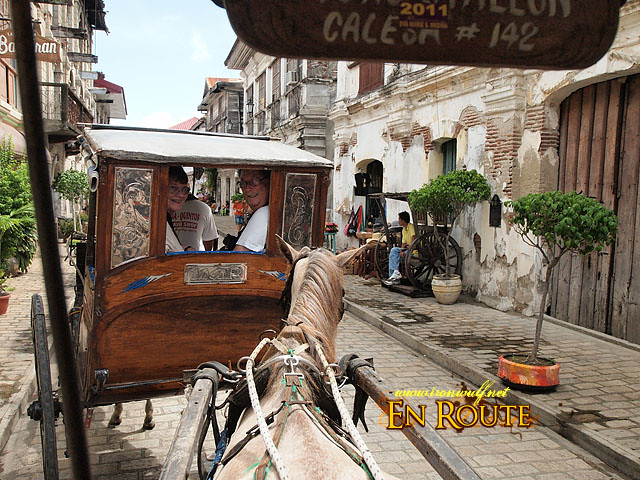 Riding the Calesa around Vigan