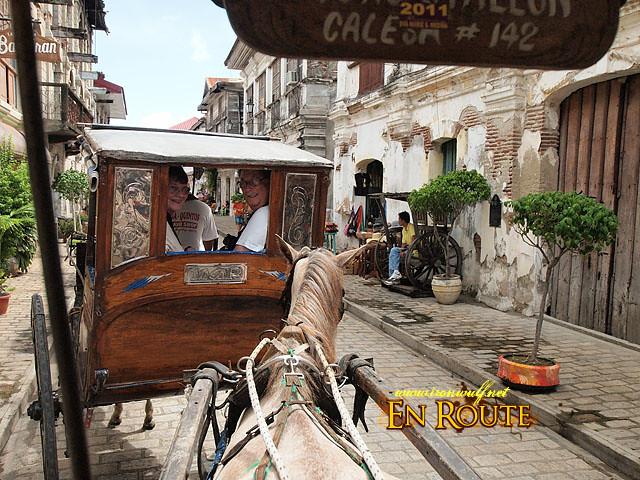 Riding the Calesa around Vigan