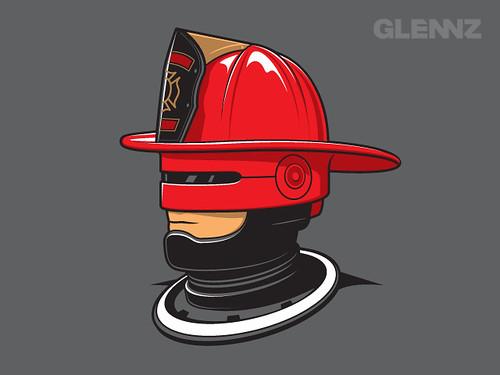 Robofireman by Glennz Tees