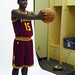 2011 #1 Pick Kyrie Irving Poses in His new Cavs Uni