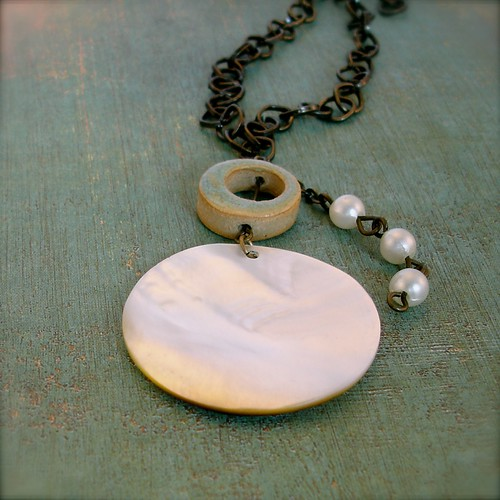 Sea Nymph Shell Necklace - Nereid of the Aegean Sea Necklace